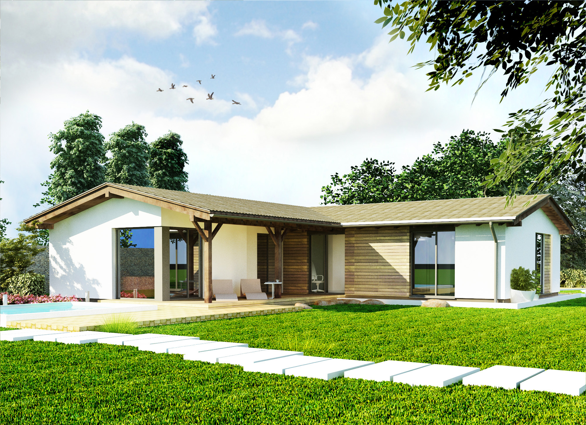 Montovaný dom - Praktik